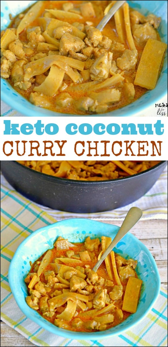 5501071d477 This Keto Coconut Curry Chicken is filling and contains all of your  favorite Curry flavors.