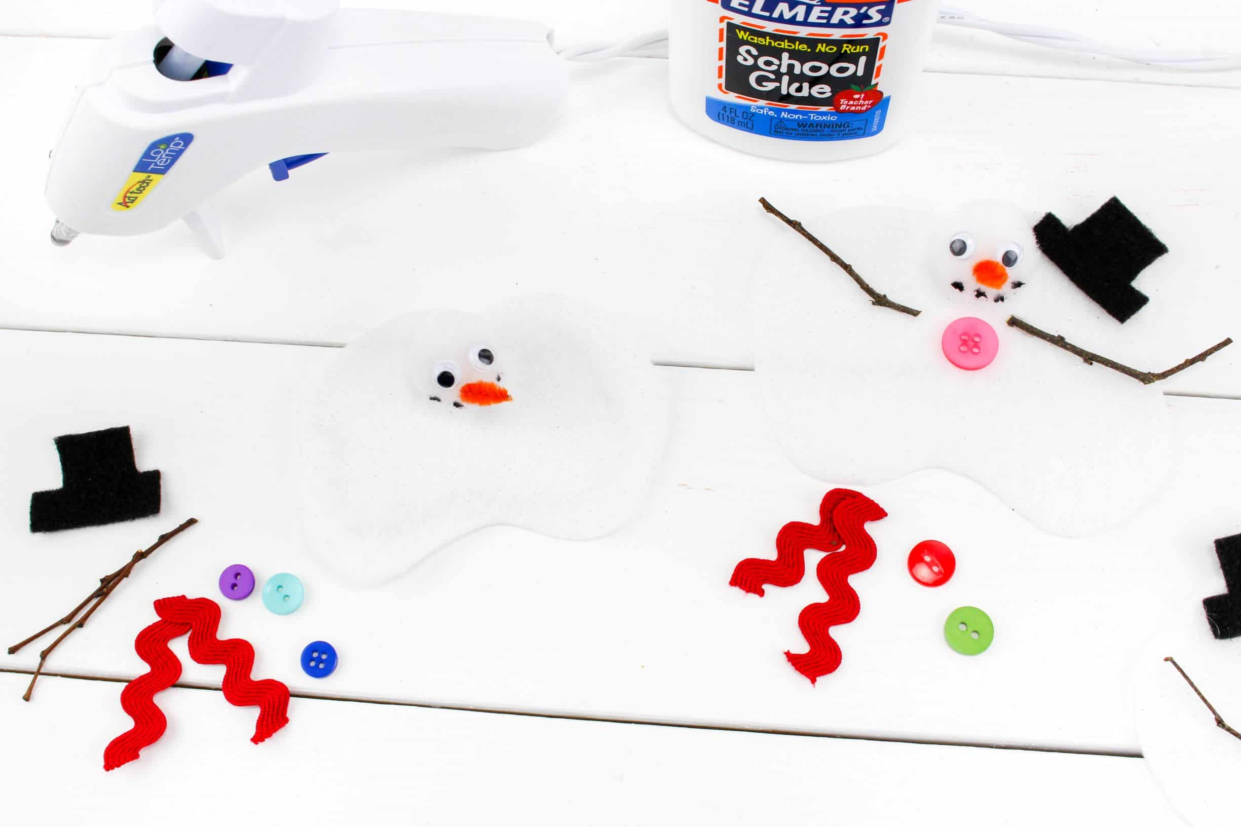 felt melting snowmen