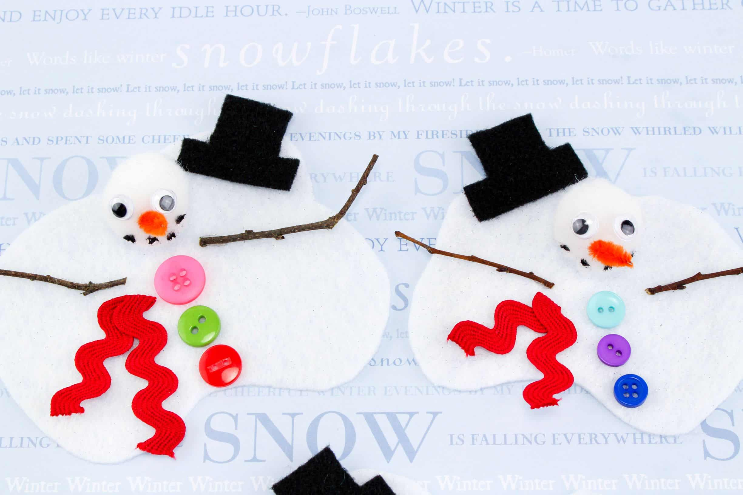 Melting Snowman Craft For Kids Mess For Less