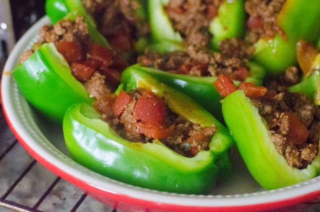 green peppers stuffed with beef