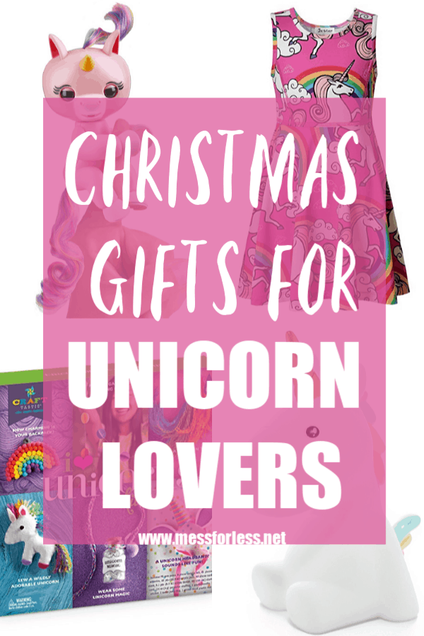 Do your kids lover unicorns? I have assembled this list of the best Unicorn Gifts for Girls to help you shop for your unicorn fan. You'll find something sure to please any unicorn lover in your house! #Christmasgifts #giftguide #unicorngifts #birthdaygifts #giftsforgirls #unicorns