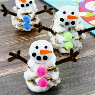 Pinecone Snowman Craft