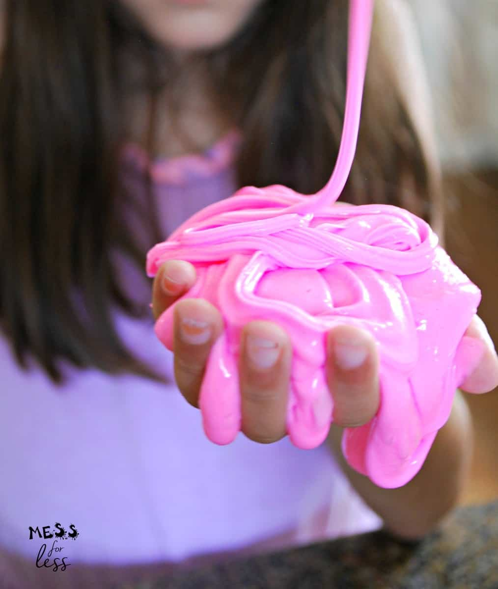 pink fluffy slime