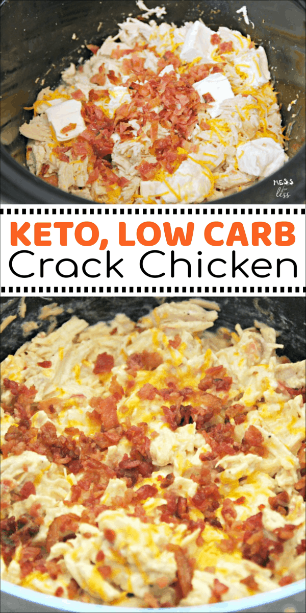Keto Crack Chicken In The Crock Pot Mess For Less