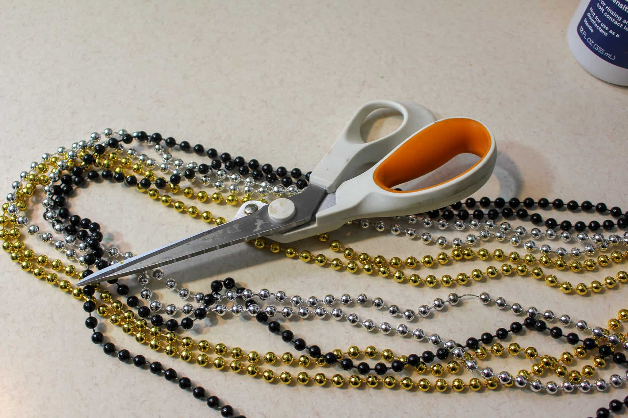 beads and scissors