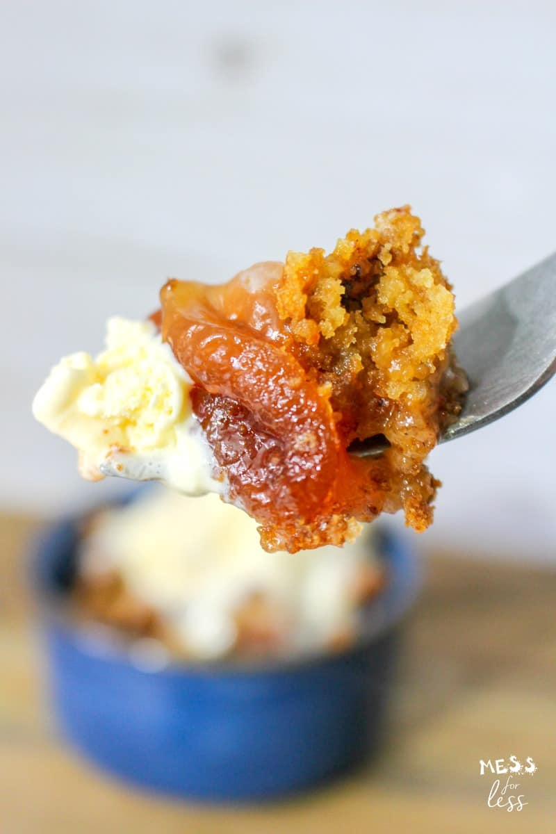 bit of crock pot apple dump cake with sea salt caramel