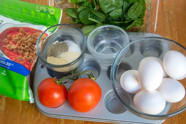 ingredients for weight watchers egg muffins