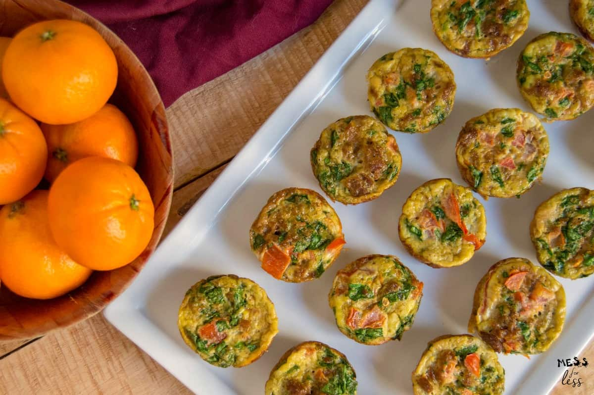 weight watchers egg muffins and oranges