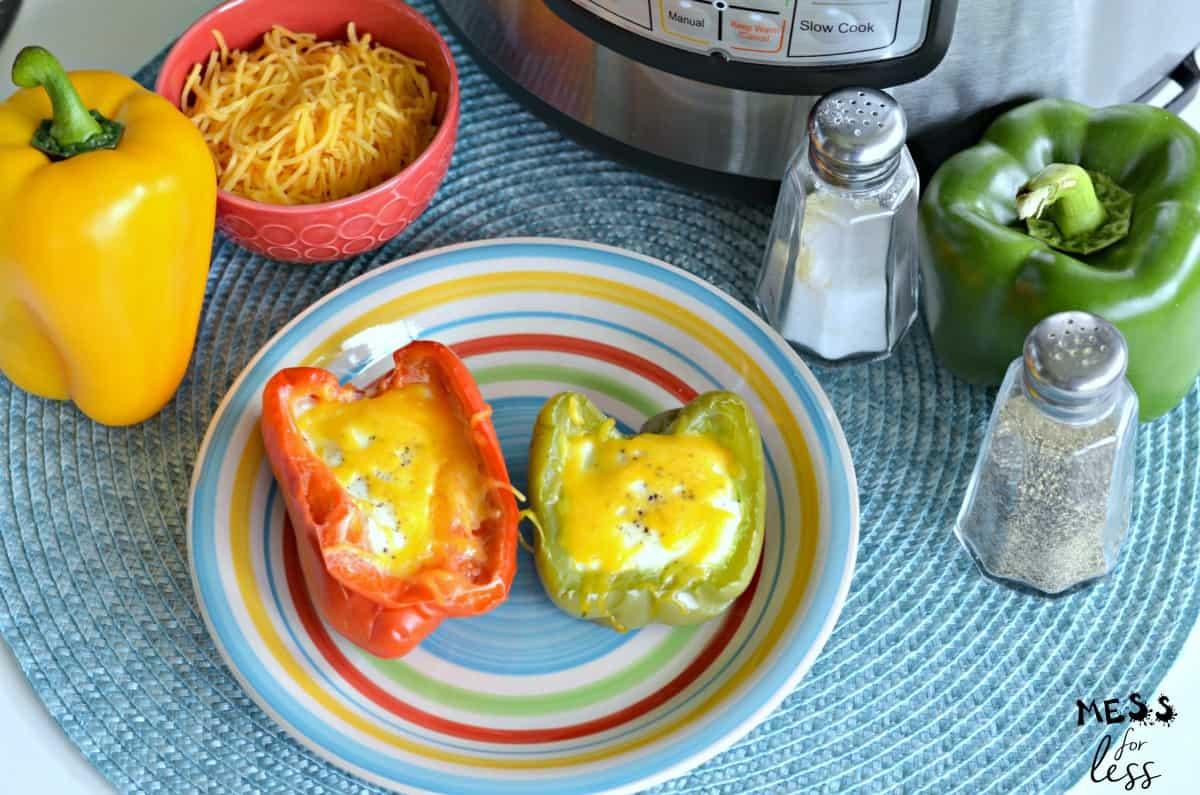 cheesy egg stuffed peppers