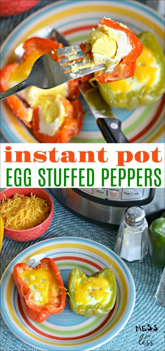 I love this recipe for Keto Instant Pot Egg Stuffed Peppers because it breathes new life into traditional eggs. Plus, these eggs are made in the Instant Pot which makes them super easy to prepare.  #keto #lowcarb #ketorecipes #lowcarbrecipes