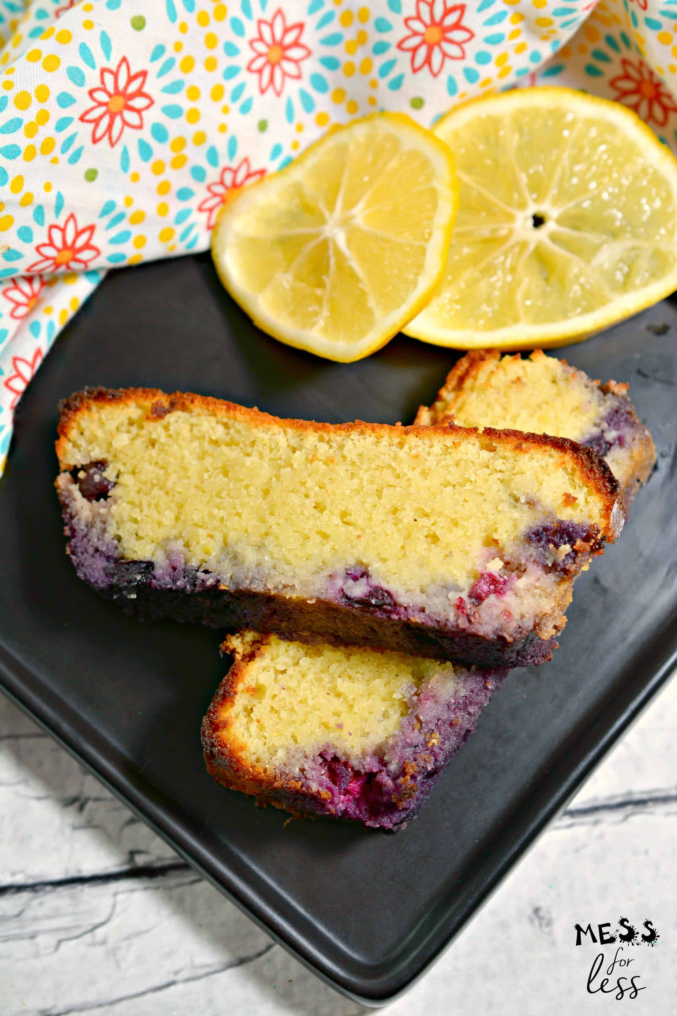 Keto Low Carb Lemon Blueberry Bread