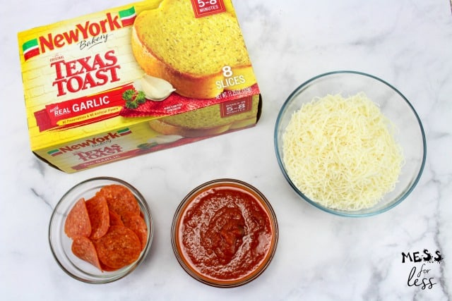 ingredients for texas toast pizza