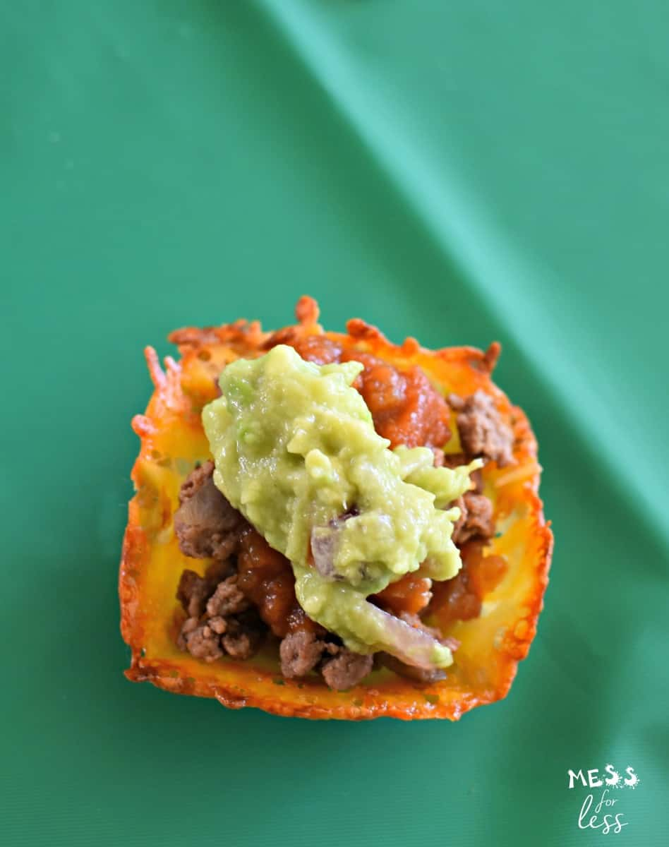 #ad Cheesy Taco Cups with Guacamole