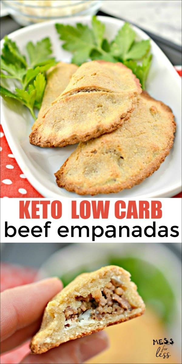 This Keto Beef Empanadas Recipe is easy to make and will allow you stay on your low carb diet while still feeling like you are indulging.  #keto #lowcarb #ketorecipes