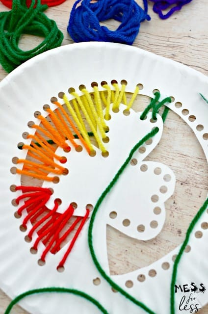 fine motor lacing activity