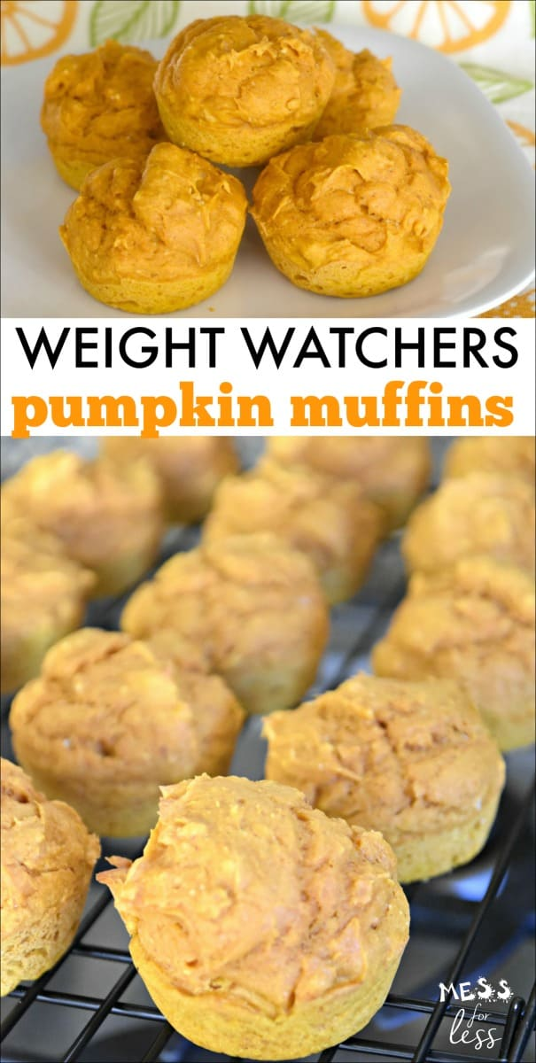 Pumpkin muffins are not just for fall! This recipe for Weight Watchers Pumpkin Muffins will make delicious 3 point treats that you will love! #weightwatchers #weightwatchersrecipes #freestyle