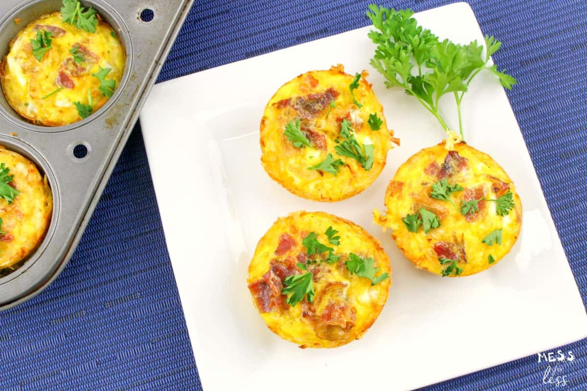 Breakfast Egg Muffins with Hash Browns