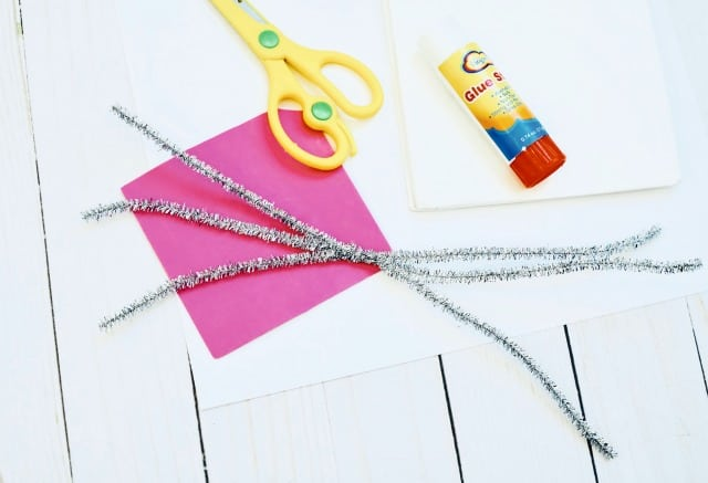 twisted silver pipe cleaners