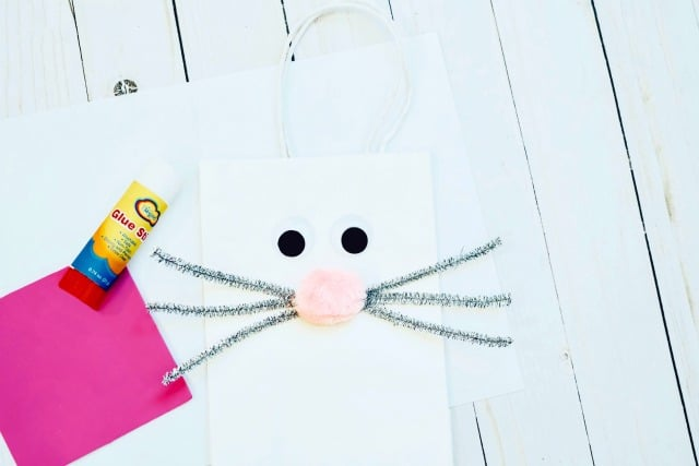 making a bunny gift bag