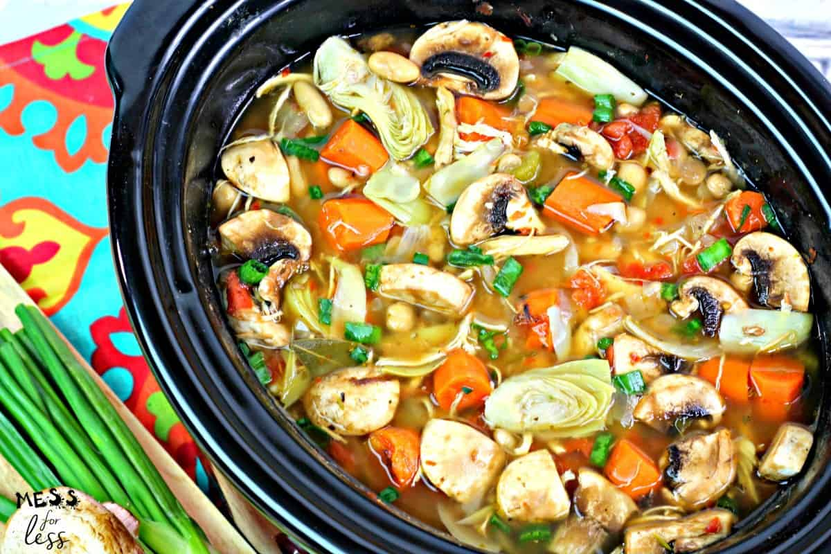 chicken soup in the crock pot