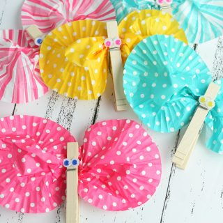 Cupcake Wrapper Butterfly Craft