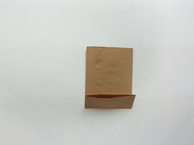 brown paper folded