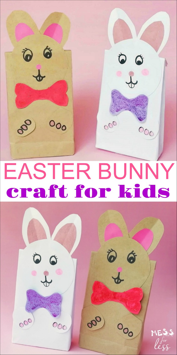 A fun Easter Bunny Craft that kids can make themselves. #easter #eastercraft #bunny #bunnycraft