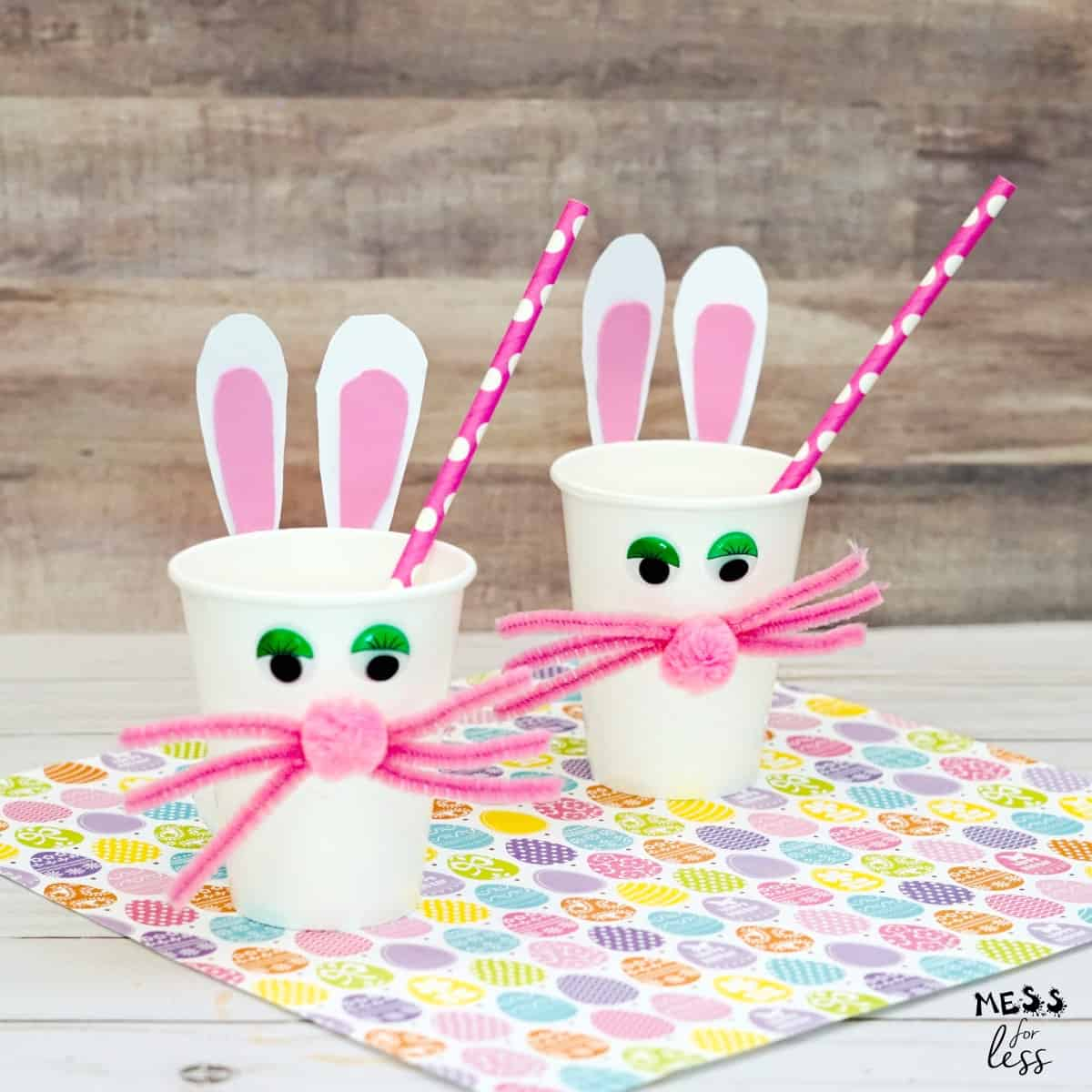 Easter bunny cup craft