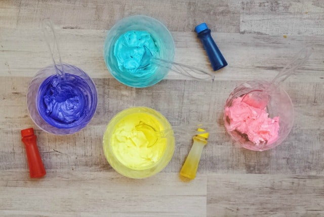 food coloring on cream cheese