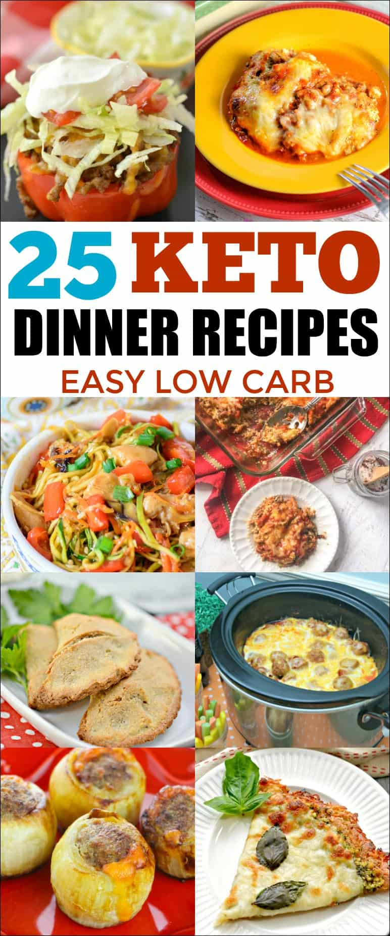 25 Best Keto Recipes for Dinner - If you are on a Keto diet, add some variety with these easy and delicious dinner recipes. #keto #lowcarb #ketorecipes