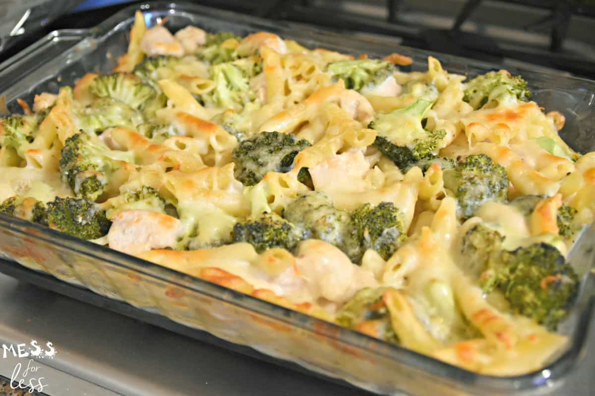 chicken broccoli alfredo bake