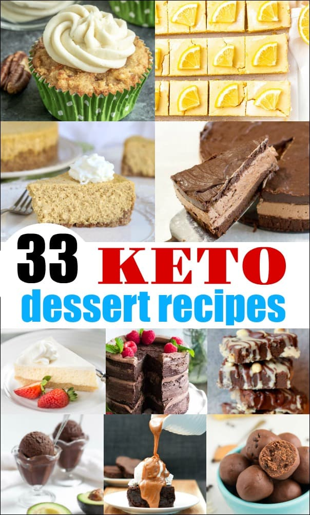 Whether you are new to the keto lifestyle, or an old pro, these Keto Dessert Recipes, will satisfy your cravings and  help you stay on track. #keto #lowcarb #ketodessert #lowcarbdessert #ketorecipes