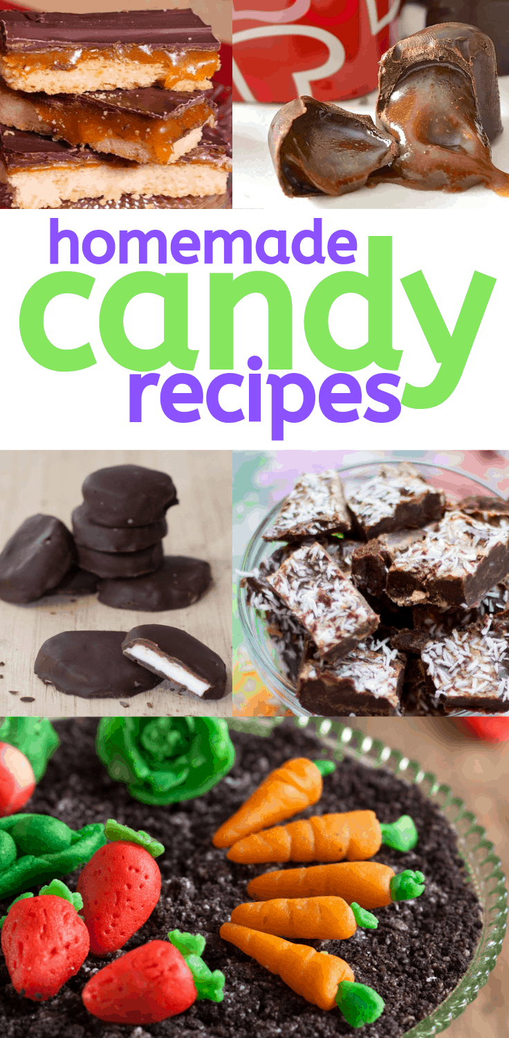 Looking for a sweet treat? Have some fun by making your own candy at home with these delicious recipes. #candyrecipe #dessert #dessertrecipes