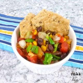 Spicy Black Bean and Corn Salsa