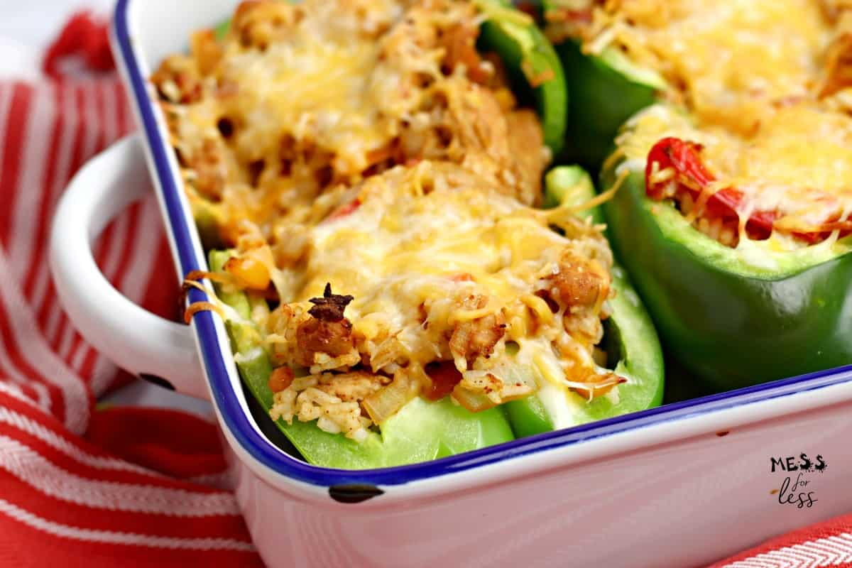 cheesy chicken stuffed peppers