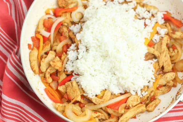 chicken fajita with rice