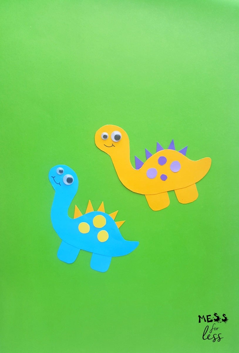 Dinosaur Craft for Kids - Mess for Less