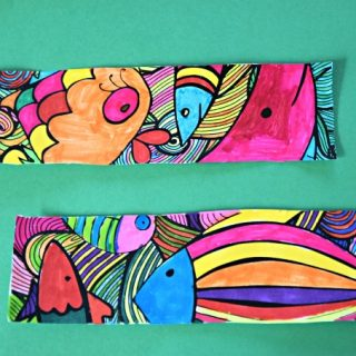 Free Fish Bookmarks to Color