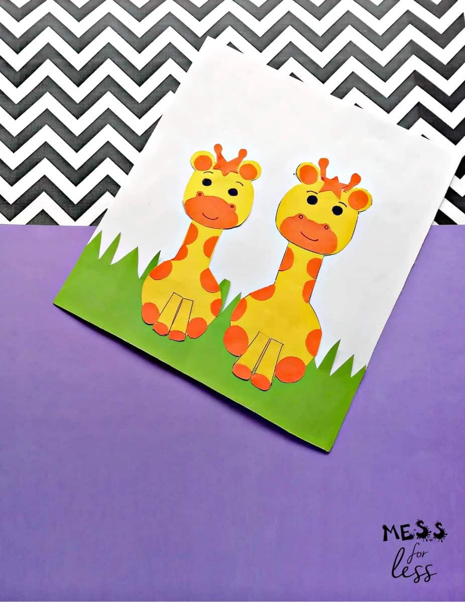 giraffe craft for kids