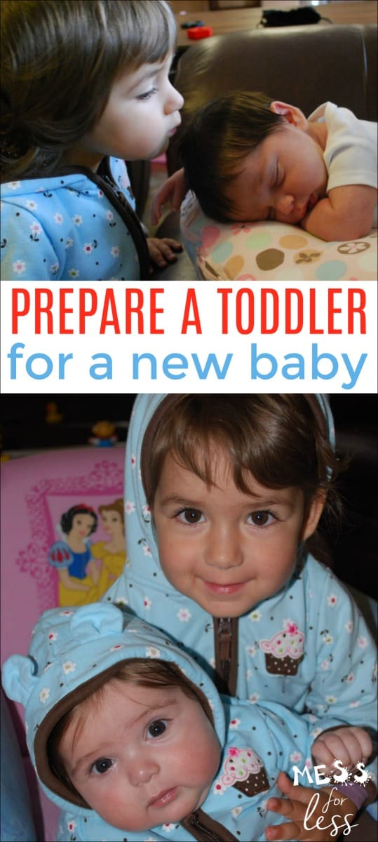 A new baby is exciting, but it can make a toddler feel displaced and confused. But with your help, your toddler make the transition easier. Learn how to prepare a toddler for a new baby. #parenting #siblings #toddlers