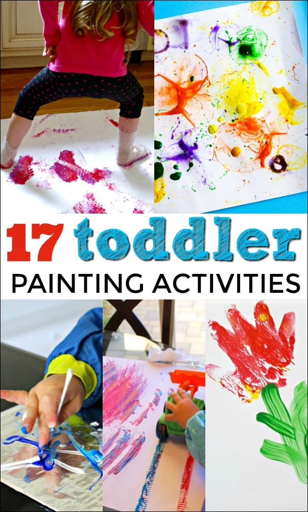 These Painting Activities for Toddlers are designed to be simple enough to engage little hands while allowing kids to explore their creative side.  #toddler #toddleractivities #paintingactivities #kidsactivities