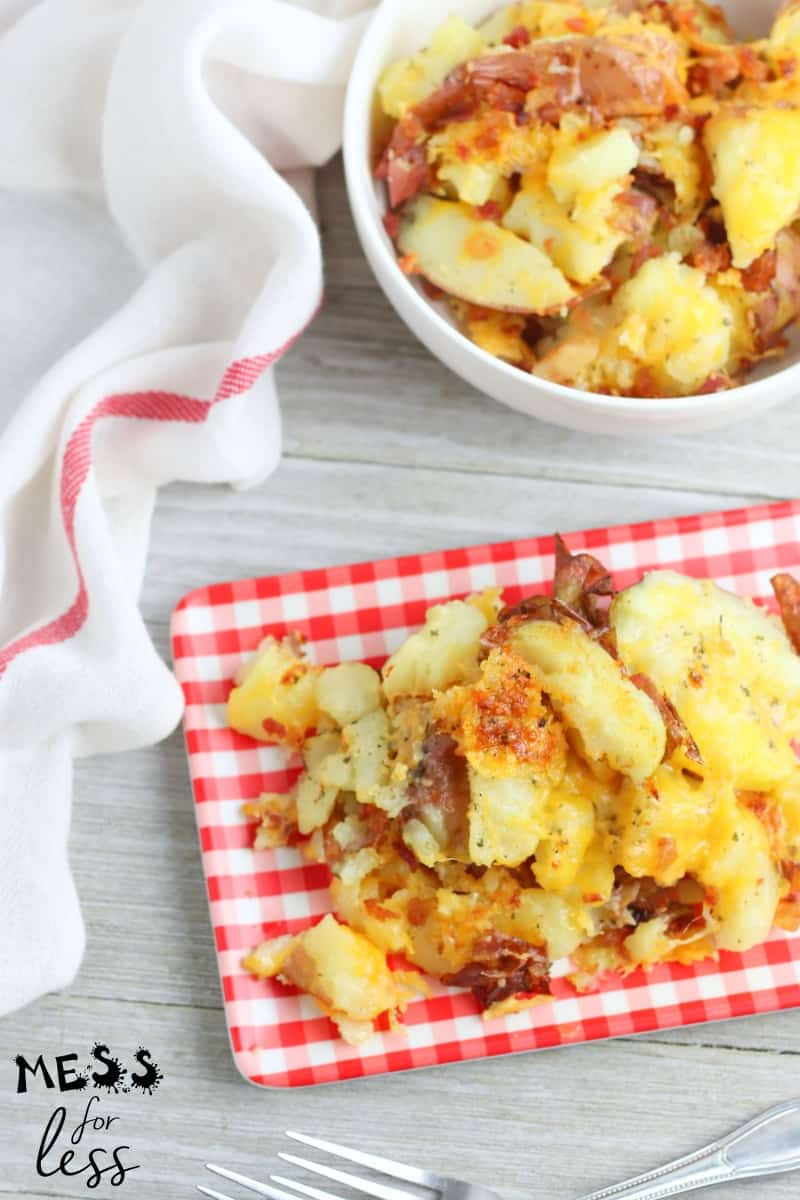 Bacon Cheddar Ranch Smashed Potatoes