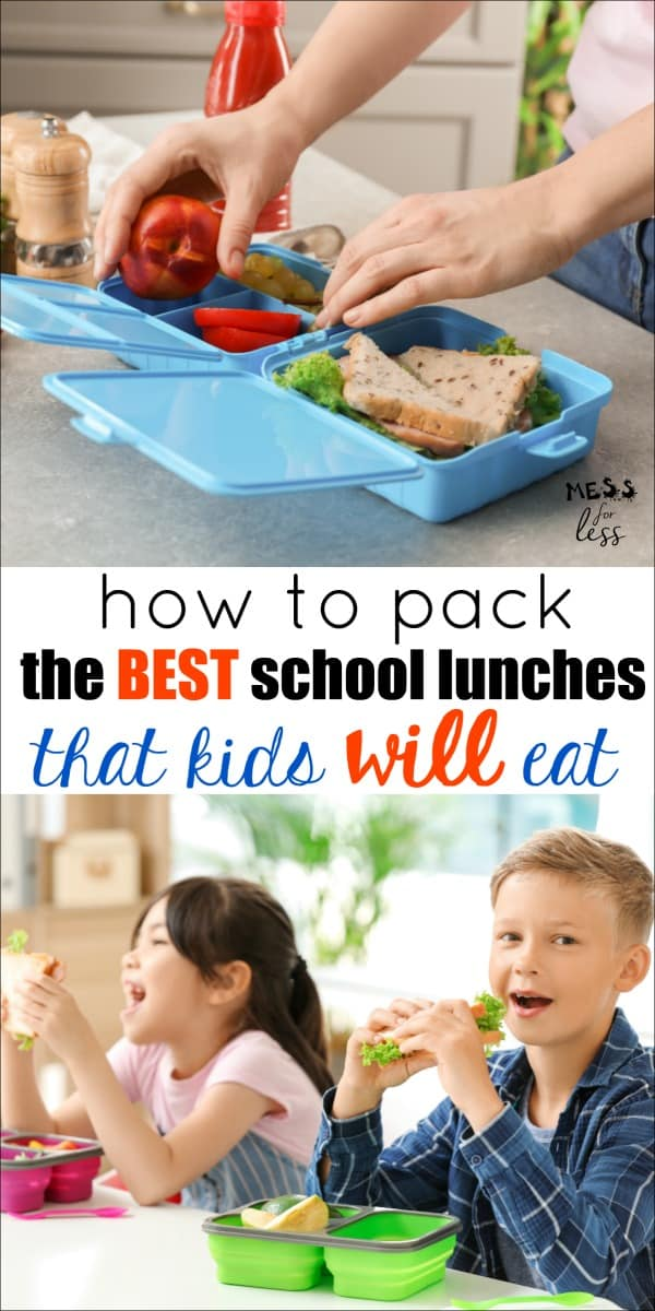 Are your kids picky school lunch eaters? I am sharing my favorite tips on How to Pack the Best School Lunches to help make the back to school transition easier. #backtoschool #schoollunches #schoollunch #kidslunch
