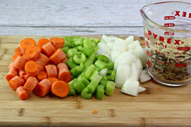 cut up veggies