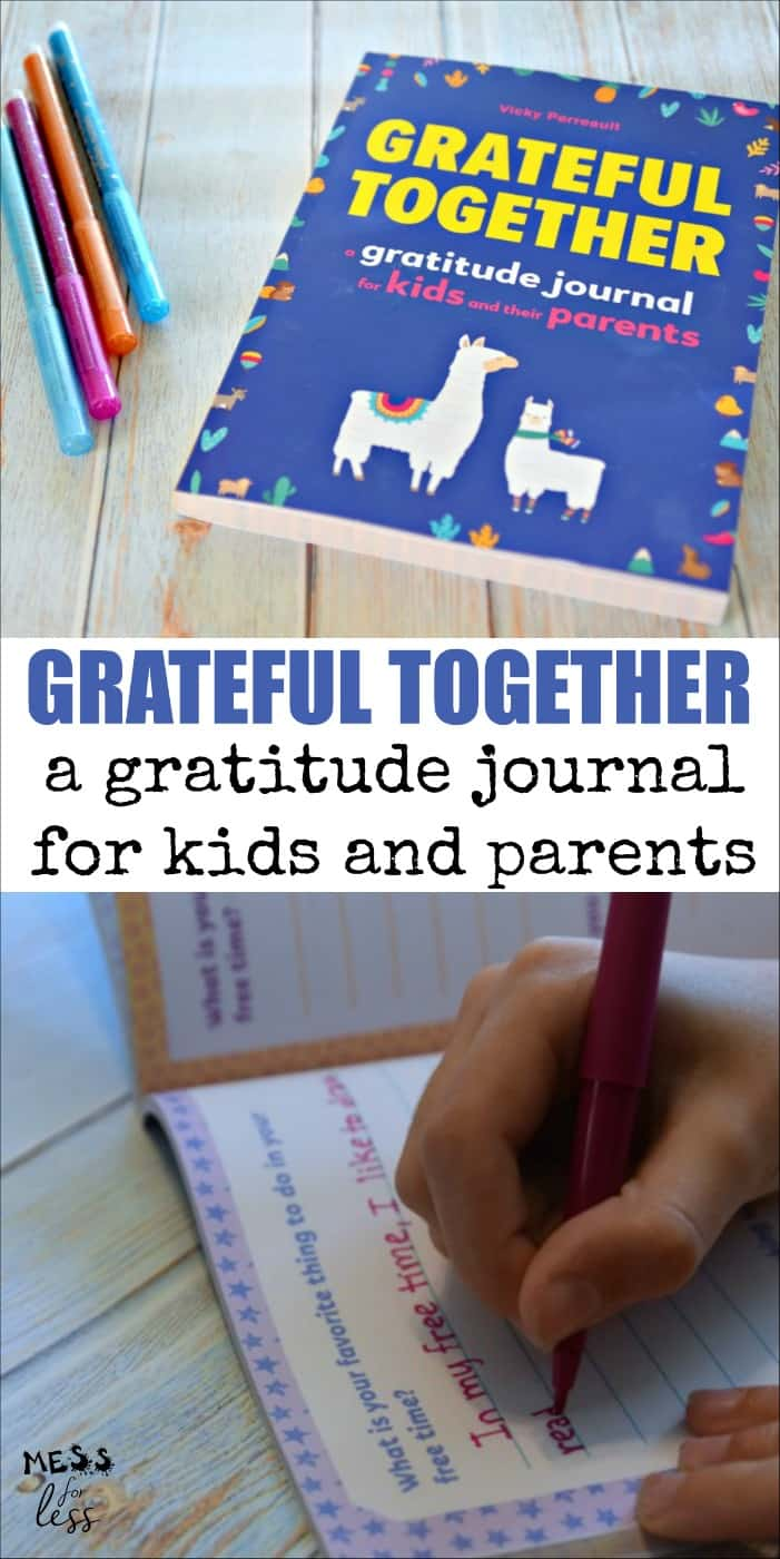 Grateful Together - A Gratitude Journal for Kids and their Parents. A shared pass back and forth journal for kids and their parents or caregivers. This is a great book for kids and parents to get to know each other better.