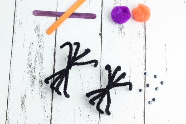 pipe cleaner spiders
