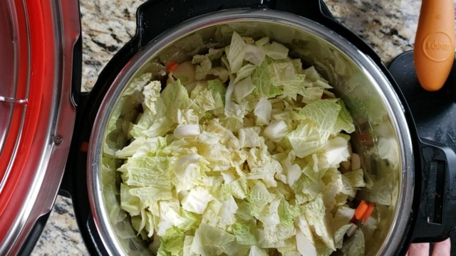 cabbage in an instant pot