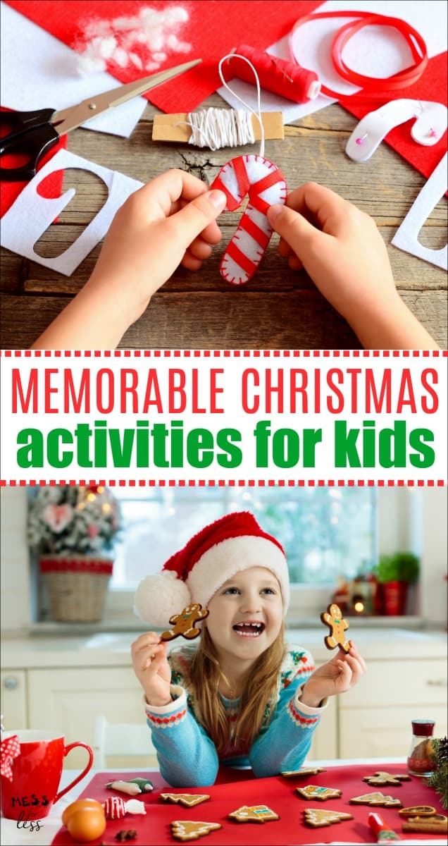 Looking to create some holiday memories with the family. You don't need to spend a lot of money. Here are some Memorable Christmas Activities for Kids that the whole family will enjoy. #Christmas #Christmasactivities