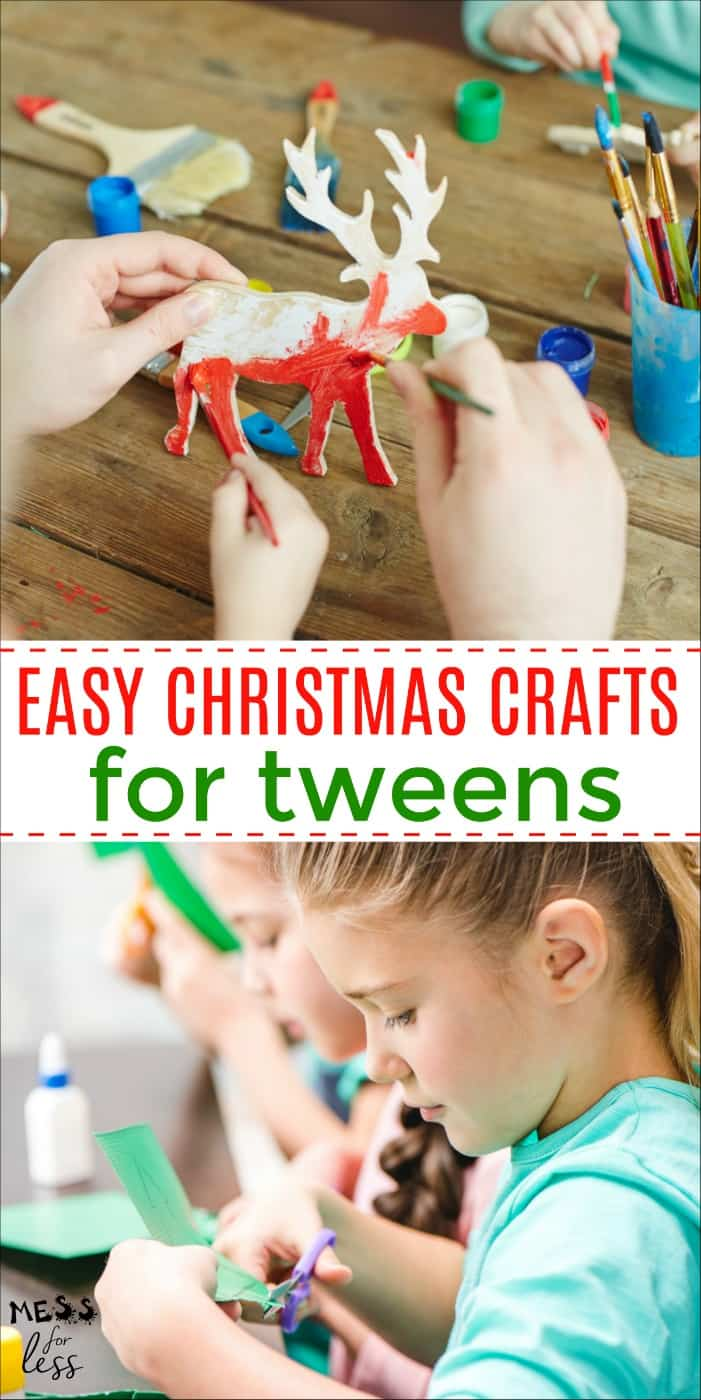 These Easy Christmas Crafts for Tweens are a great way to keep tweens busy during the holiday season. #christmascrafts #christmas #tweens