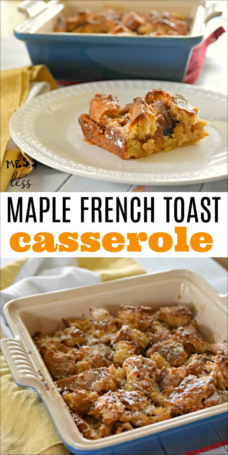 if you are looking for an easy recipe for a delicious breakfast that the whole family will love, whether it's the holiday season or any day of the week, you must try this Maple French Toast Casserole.#overnightcasserole #makeaheadcasserole #frenchtoastcasserole #frenchtoast